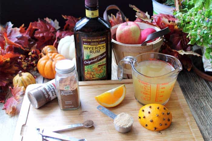 Spiked Hot Apple Cider ingredients | 2 Cookin Mamas