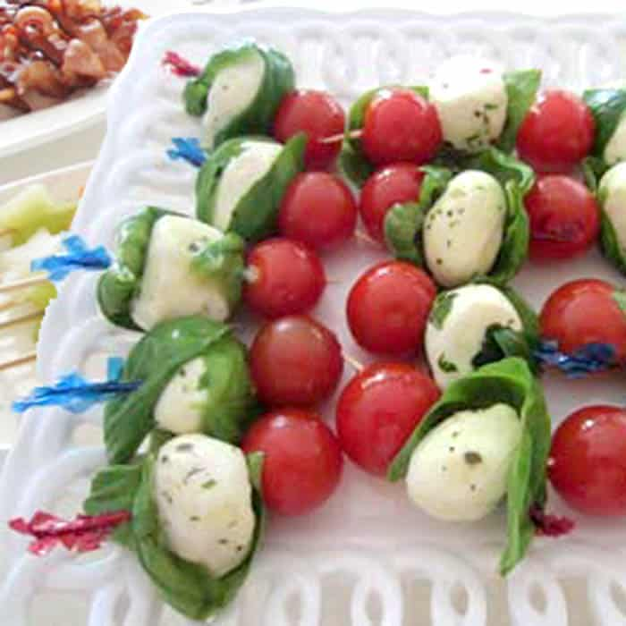 Caprese on a Stick by 2 Cookin Mamas