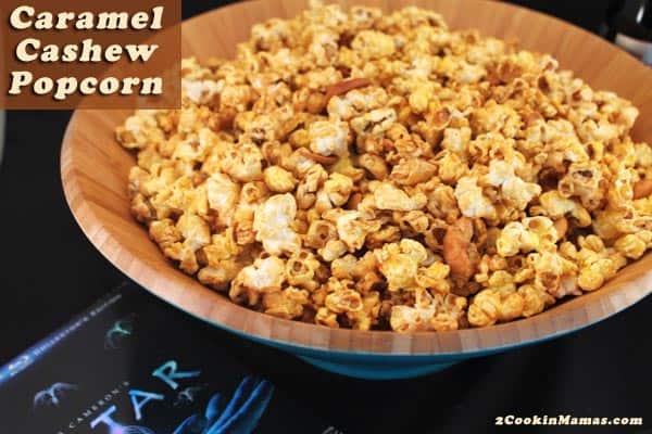 Caramel Cashew Popcorn | 2CookinMamas