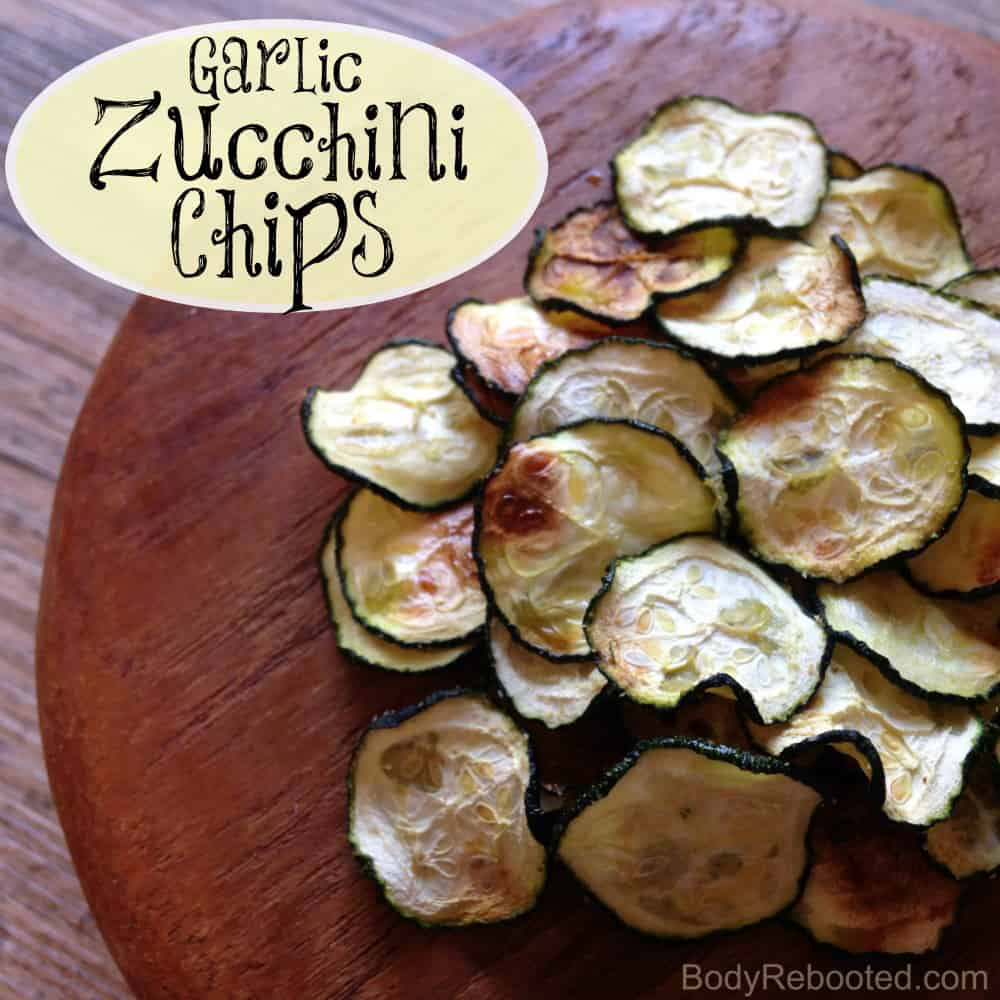 Garlic Zucchini Chips by Body Rebooted
