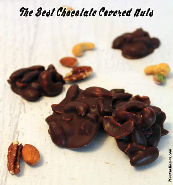 Easy Chocolate Covered Nuts | 2CookinMamas