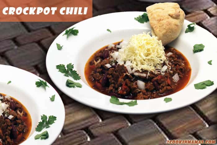 Hearty Crockpot Chili | 2CookinMamas