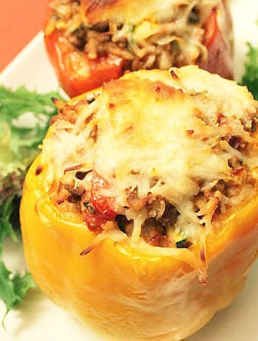 Lasagna Stuffed Peppers square new | 2 Cookin Mamas