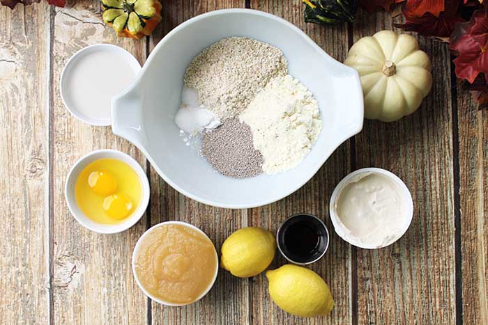 Lemon Chia Seed Protein Bars ingredients | 2 Cookin Mamas