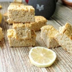 Lemon Chia Seed Protein Bars square | 2 Cookin Mamas
