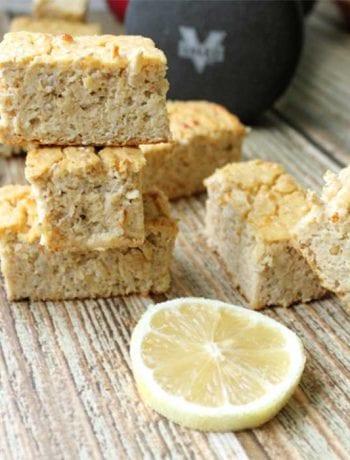 Lemon Chia Seed Protein Bars square   2 Cookin Mamas