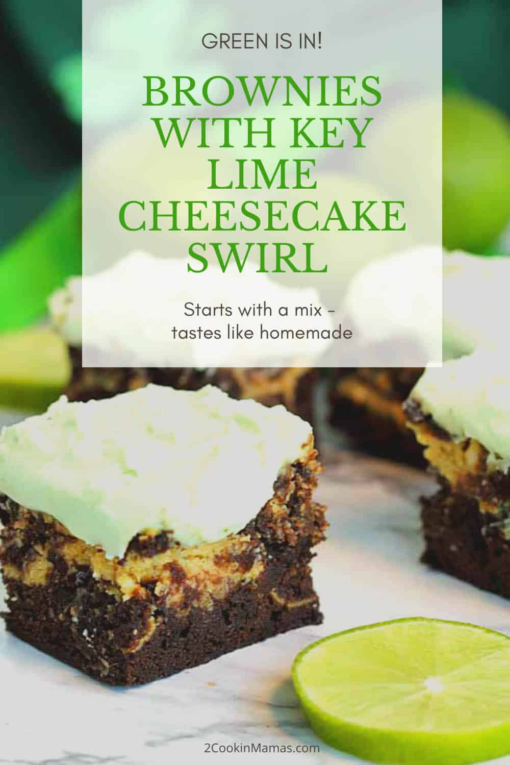 Key Lime Cheesecake Brownies - A Bit of the Green
