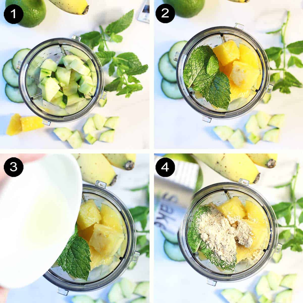 how to make pineapple smoothie.