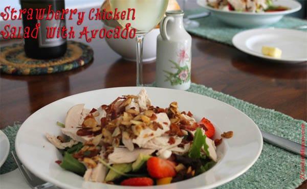 Strawberry Chicken Salad with Avocado | 2CookinMamas