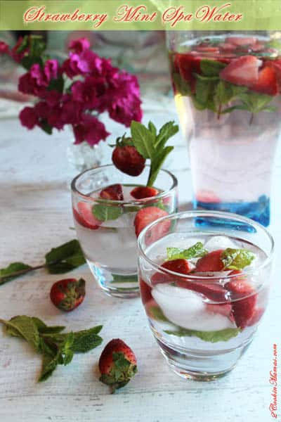 Strawberry Mint Water | 2CookinMamas