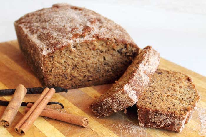 Churro Banana Bread sliced