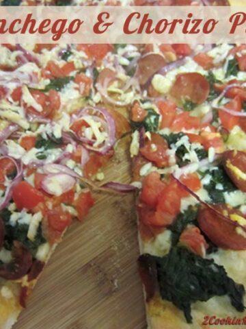 Manchego and Chorizo Pizza | 2CookinMamas