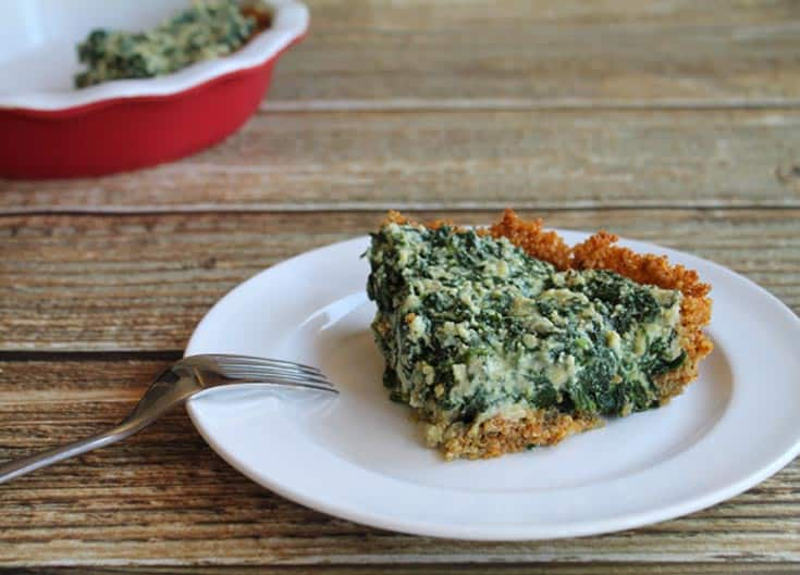 Spinach Pie with Quinoa Crust 2 | 2 Cookin Mamas