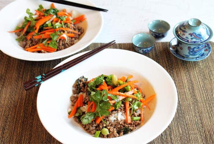 Thai Beef with Carrot Basil Salad   2 Cookin Mamas