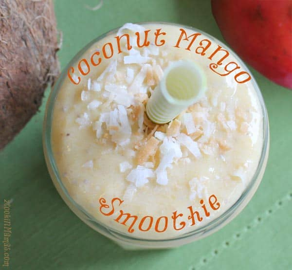 Coconut Mango Smoothie | 2CookinMamas