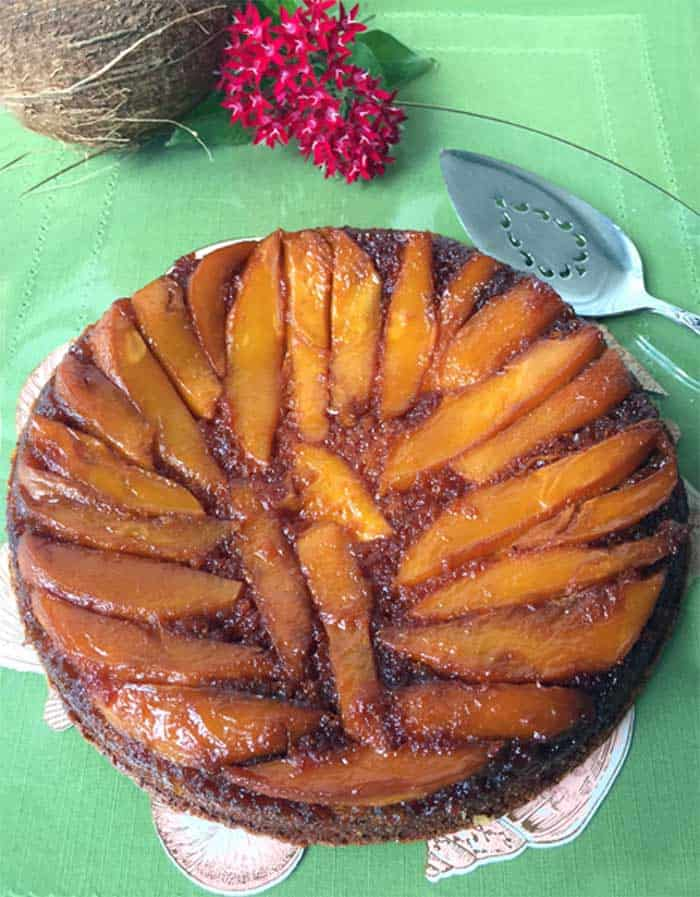 Mango Upside Down Cake 1 | 2 Cookin Mamas
