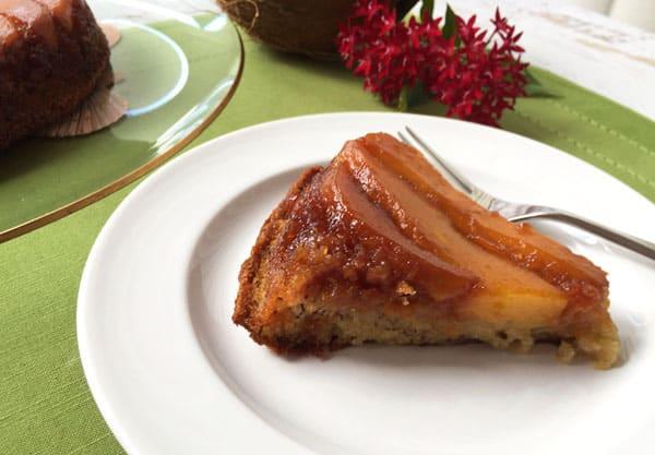 Mango Upside Down Cake Slice   2CookinMamas