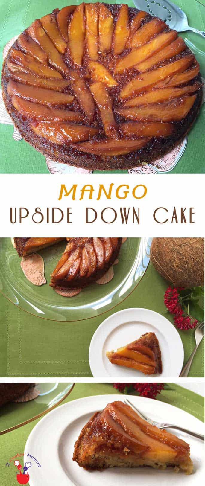 Mango Upside Down Cake | 2 Cookin Mamas What's better than fresh mango? Fresh mango atop a moist & delicious rum cake! Impress guests with this easy & beautiful Mango Upside Down Cake recipe.