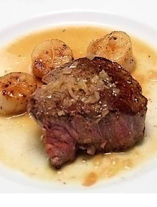 Steak and Scallops with Champagne Butter | 2 Cookin Mamas