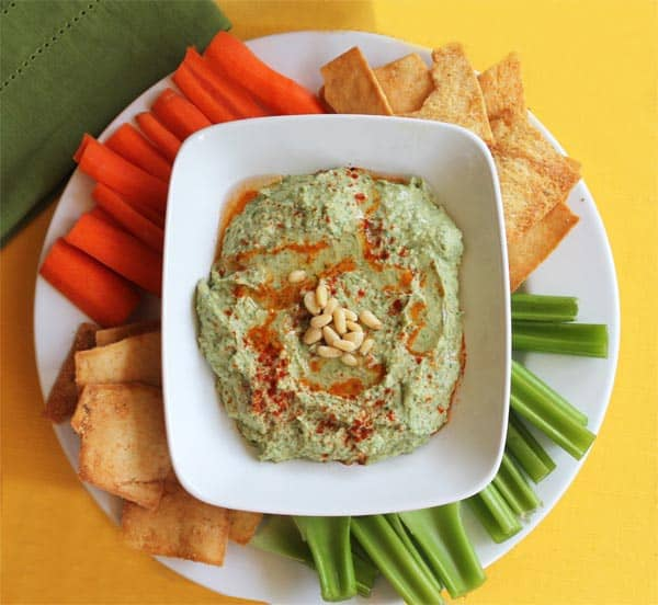 White Bean Garlic Kale Hummus 1 | 2CookinMamas