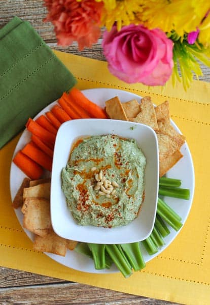 White Bean Garlic Kale Hummus 2 | 2CookinMamas