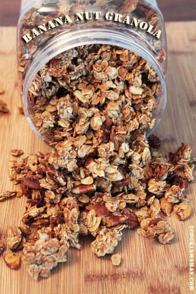 Banana Nut Granola main | 2CookinMamas