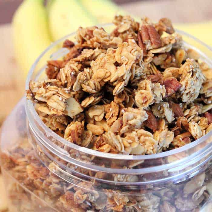 Banana Nut Granola square