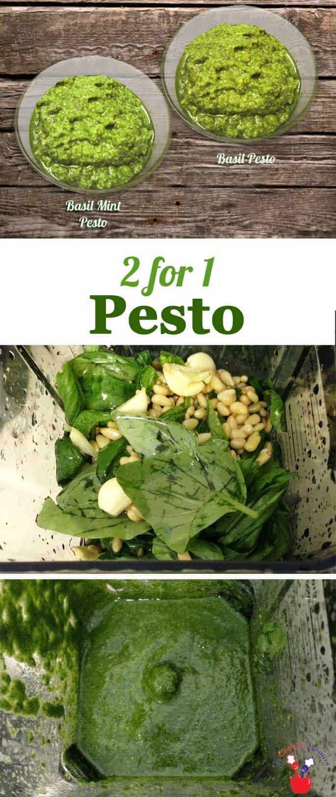 When there's plenty of basil, make one of these delicious pestos. Basil and Mint Pesto can be used for pizza, pasta, in lieu of mayo or just about anything.