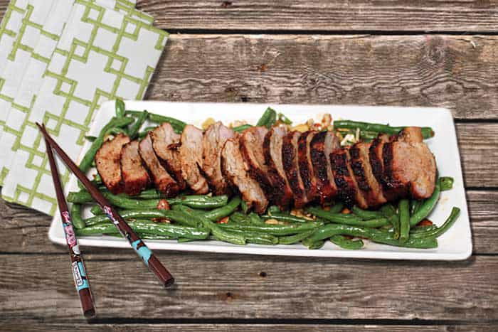 Grilled Asian Pork Loin plated