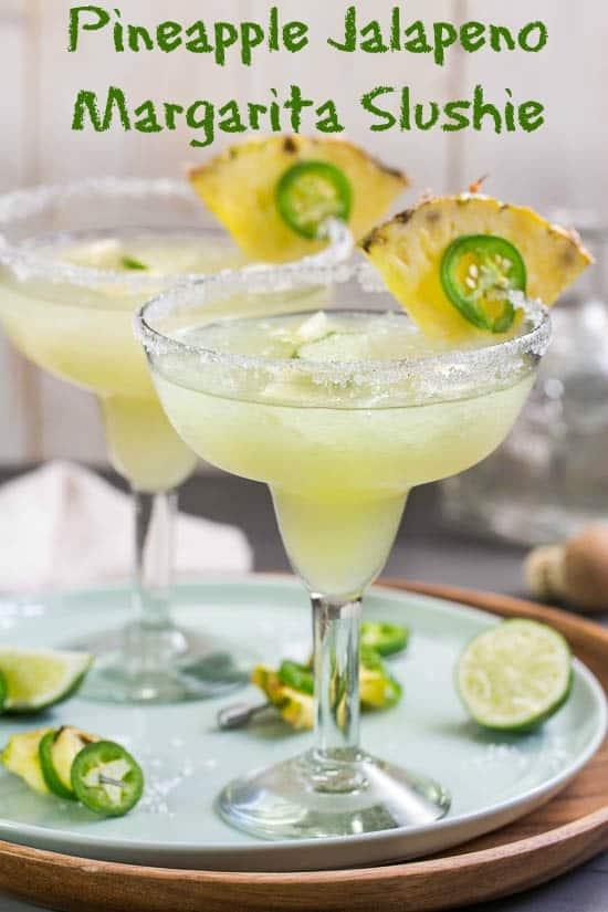 Pineapple Jalapeno Margarita Slushie by nospoonnecessary