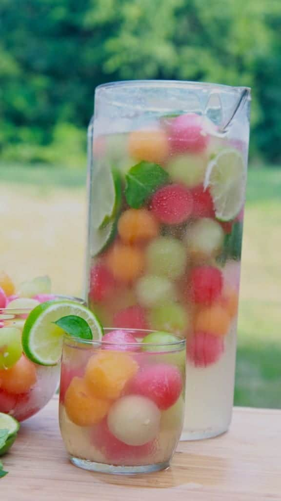 melon ball punch by divas can cook