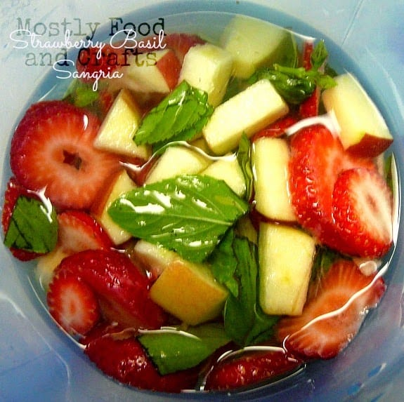 strawberry basil sangria by mostly food and crafts