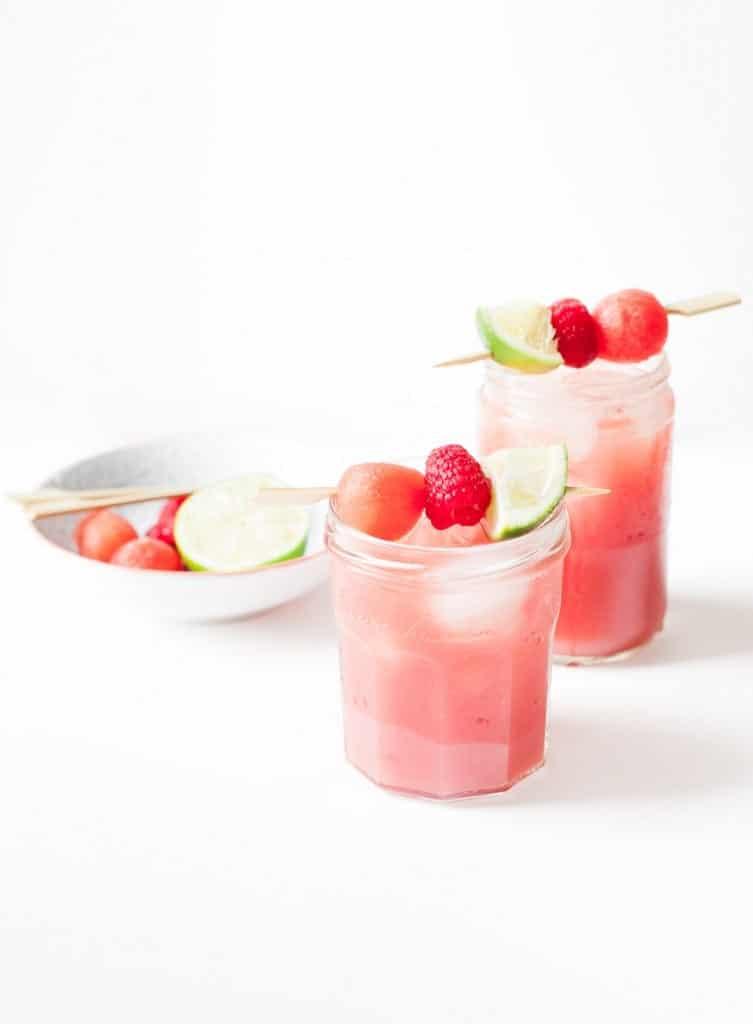 watermelon raspberry aqua fresca by a calculated whisk