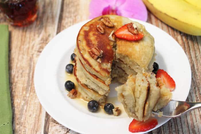 Banana Pancakes bite | 2 Cookin Mamas