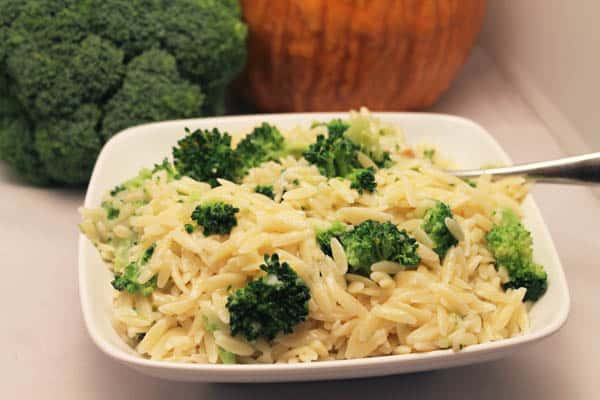 Orzo with Broccoli close up | 2CookinMamas