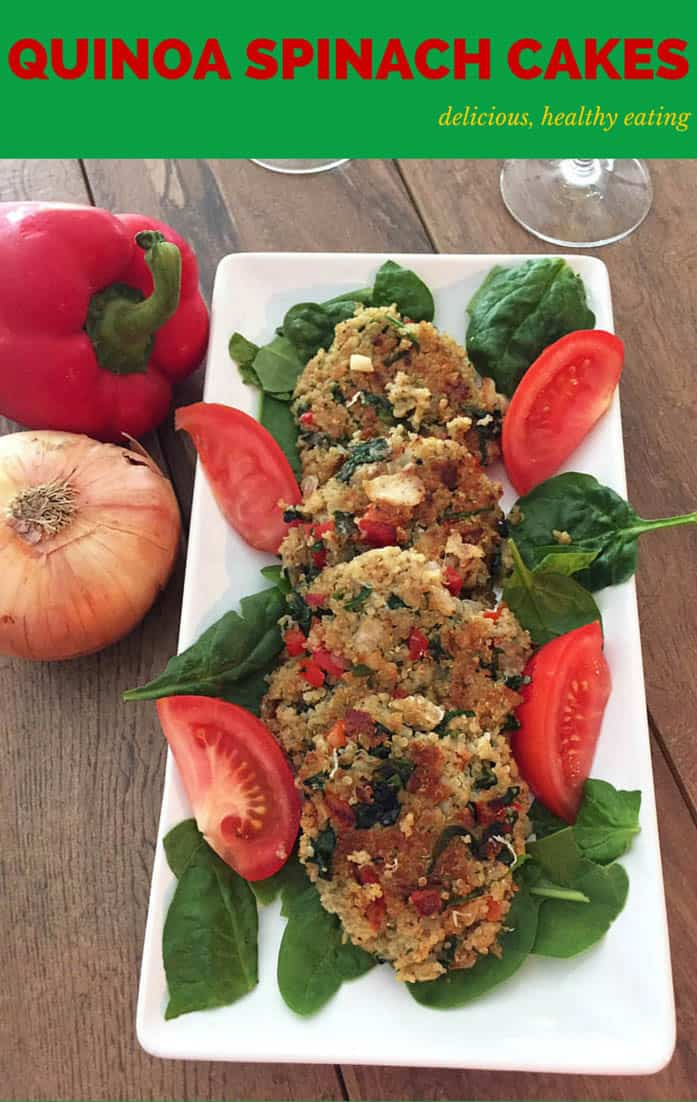 Quinoa Spinach Cakes are quick & easy, perfect for busy weeknights. Combine protein-rich quinoa with spinach & spices for a healthy side or meatless meal.