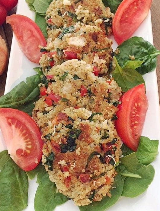 Quinoa Spinach Cakes square