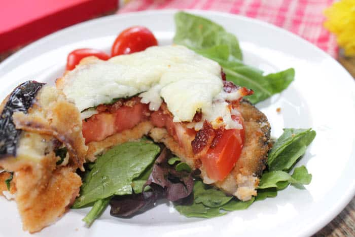 BLT Stacks with eggplant bite | 2 Cookin Mamas
