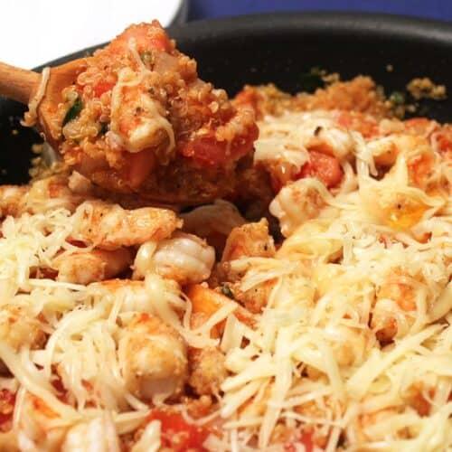 Cajun Shrimp and Quinoa Skillet square