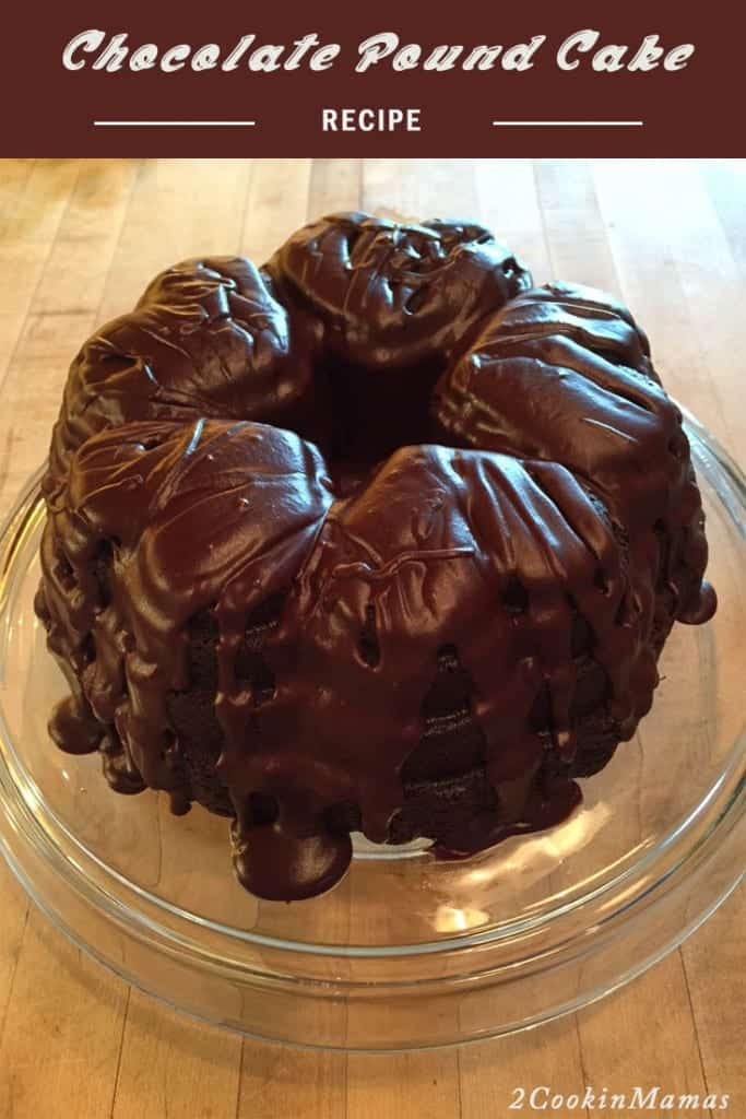 Chocolate Pound Cake main|2CookinMamas