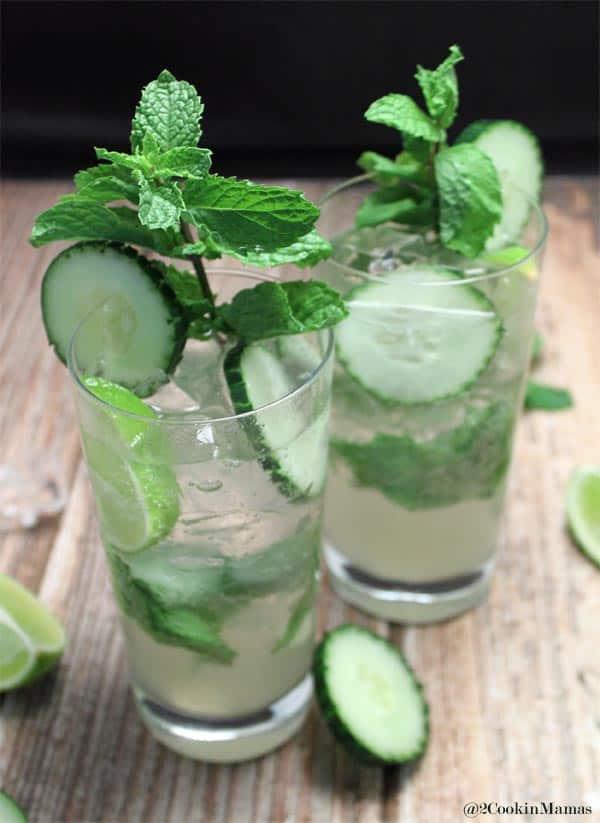 Cucumber Mojito closeup 2CookinMamas