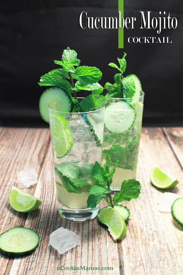 Chill with this easy 5-ingredient cucumber mojito recipe. The perfect summer cocktail with the subtle taste of cucumber and the bright flavors of fresh limes and mint. #recipe #vodka #cucumber #mint #mojito #cucumbercocktail #vodkacocktail #cucumbervodka #cocktail #drink