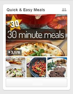 Quick and Easy Meals Pinterest board