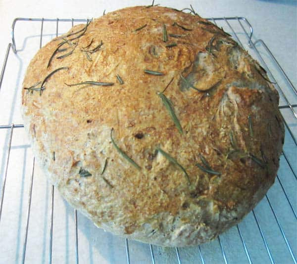Rosemary Bread cooling | 2CookinMamas