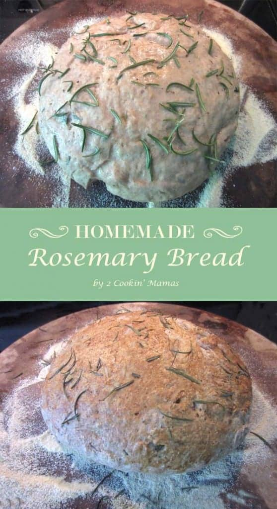 Rosemary Bread pin|2CookinMamas