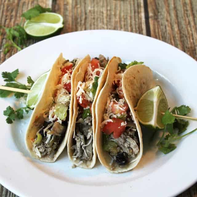 Slow Cooker Chicken Tacos 2   2CookinMamas