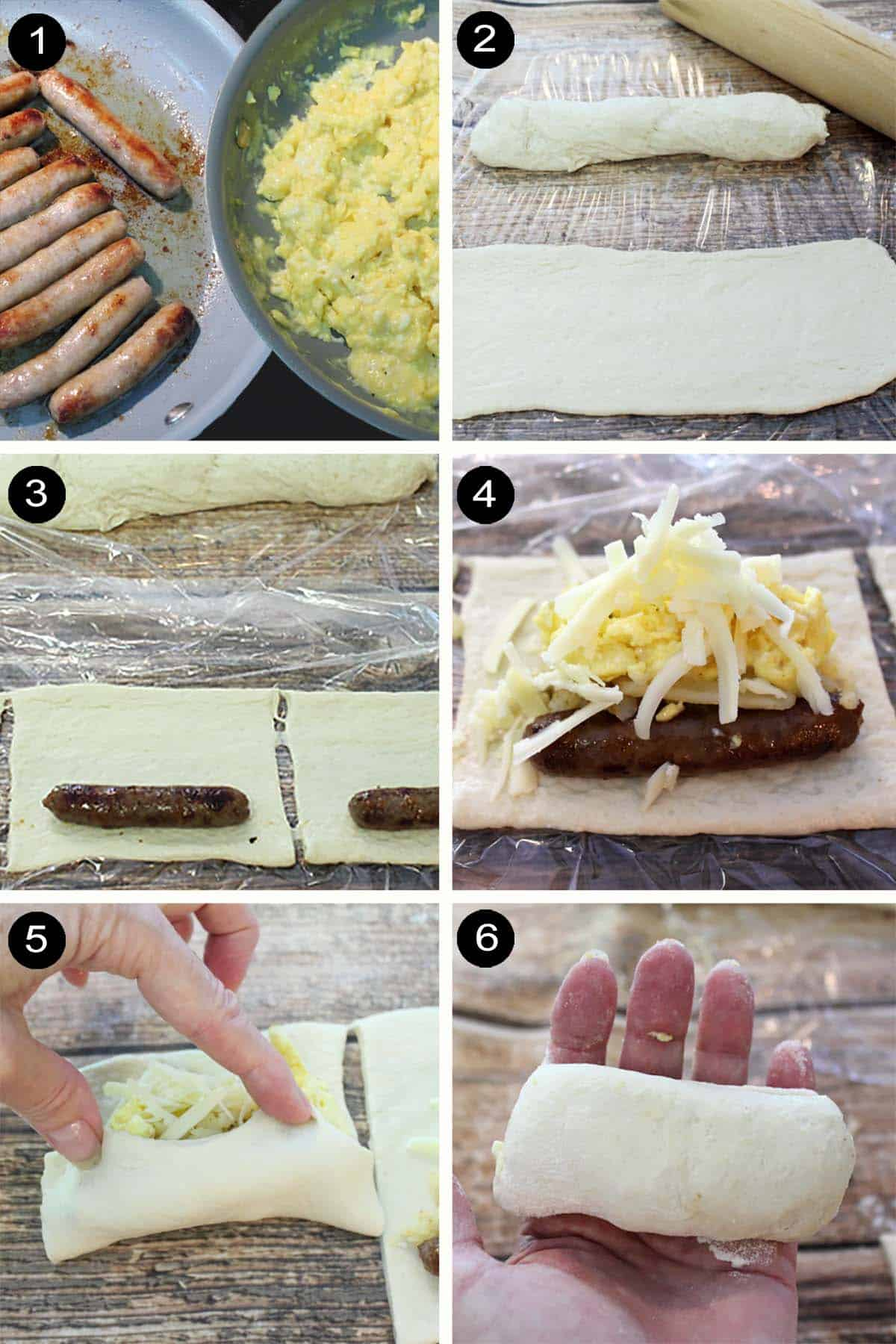 Steps on how to make savory kolaches.