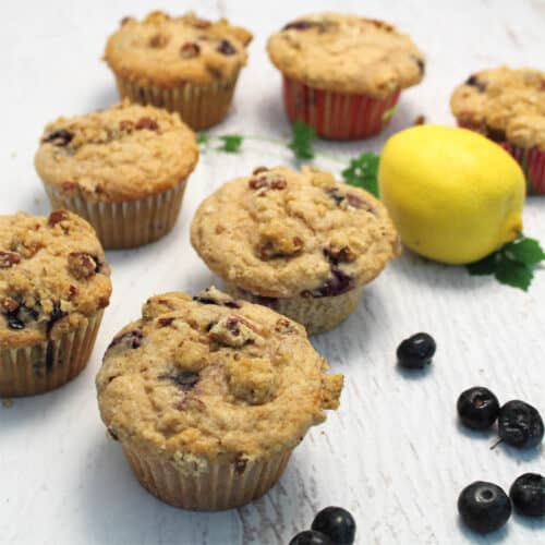 Streusel Coffee Cake Blueberry Muffins 2 Cookin Mamas