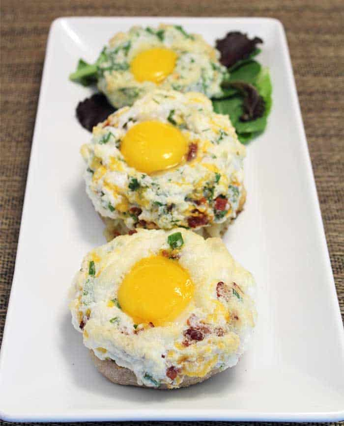 Cloud Eggs plated | 2 Cookin Mamas
