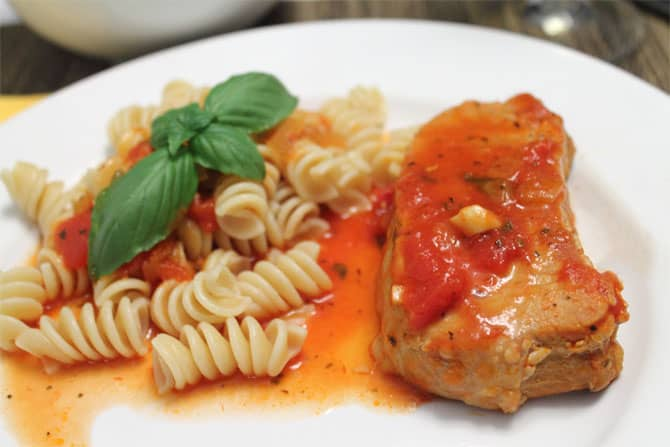 Italian Pork Chops plated|2CookinMamas